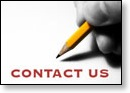 Contact Us-hand writing with a pencil